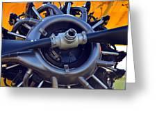Stearman Engine Greeting Card