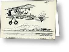 Stearman Pt-13 Trainer Greeting Card