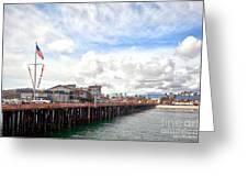 Stearns Wharf Santa Barbara California Greeting Card