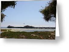 Stearns Wharf Santa Barbara Greeting Card