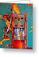 Steel Abstraction Greeting Card