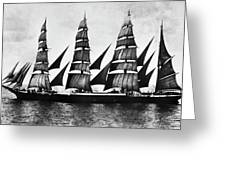 Steel Barque, 1921 Greeting Card