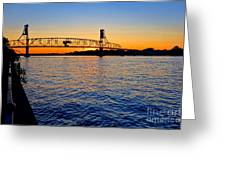 Steel Bridge Silk Water Greeting Card by Olivier Le Queinec