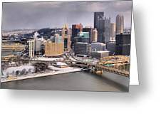 Steel City Storm Clouds Greeting Card