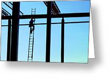 Steel Construction Greeting Card
