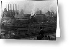 Steel Factory, C1907 Greeting Card