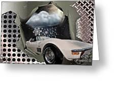 Steel Frame Stingray Greeting Card