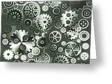 Steel Gears Greeting Card