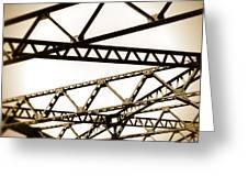 Steel Lines Greeting Card
