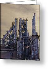 Steel Mill - Bethlehem Pa Greeting Card by Bill Cannon