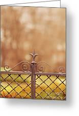 Steel Ornamented Fence Greeting Card