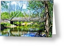 Steel Span Bridge Gettysburg Greeting Card