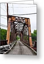Steel Span Railroad Bridge Manayunk  Philadelphia Pa Greeting Card