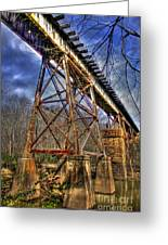 Steel Strong Rr Bridge Over The Yellow River Greeting Card