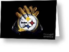 Steelers Gloves Greeting Card