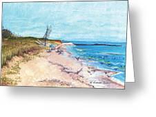 Steep Beach Greeting Card