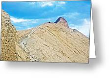Steep Trail To Manly Beacon From Golden Canyon In Death Valley National Park-california  Greeting Card