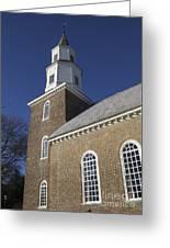 Steeple At Bruton Parish Church Greeting Card