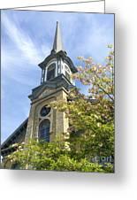 Steeple Church Arch Windows Greeting Card