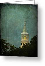 Steeple In A Storm Greeting Card