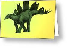 Stegosaurus Greeting Card