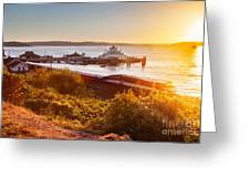 Steilacoom Ferry Dock At Sunset Greeting Card