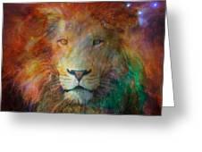 Stellar Lion Greeting Card