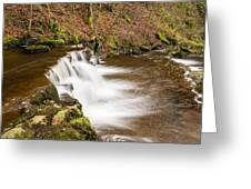 Step In The Scaleber Force Waterfall Greeting Card