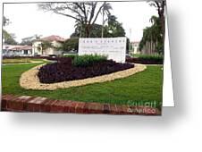 Stephen Circle Gardens 1 Greeting Card