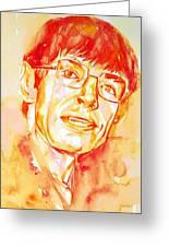 Stephen Hawking Portrait Greeting Card