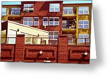Stepped Building Greeting Card