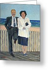 Stepping Out In Atlantic City New Jersey Greeting Card