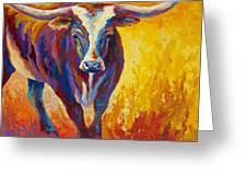 Stepping Out - Longhorn Greeting Card