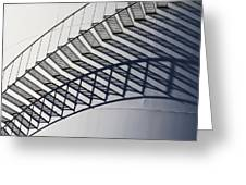 Steps And Shadow On Tank Greeting Card