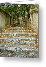 Steps In Cavaillon Greeting Card