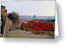 Steps Of Prague Greeting Card