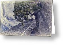 Steps To Beauty On Moro Rock Greeting Card