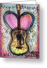 Steve Gold Guitar Greeting Card