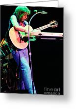 Steve Howe Of Yes 1980 Drama Tour Greeting Card