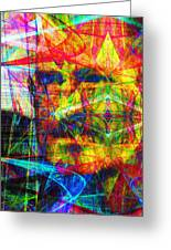 Steve Jobs Ghost In The Machine 20130618 Long Greeting Card by Wingsdomain Art and Photography