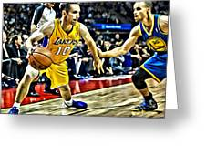 Steve Nash In Action Greeting Card