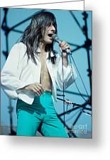 Steve Perry Of Journey At Day On The Green - July 1980 Greeting Card