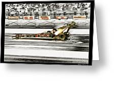 Steve Torrence Top Fuel Solerized Greeting Card