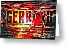 Steven Gerrard Liverpool Symbol Greeting Card