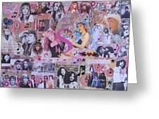 Stevie Nicks Art Collage Greeting Card