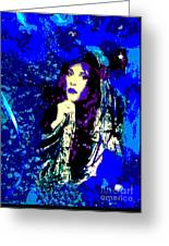 Stevie Nicks In Blue Greeting Card