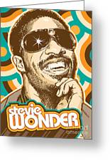Stevie Wonder Pop Art Greeting Card