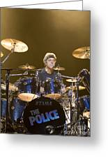 Stewart Copeland Of The Police Greeting Card