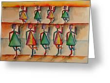 Stickwomen Performers Greeting Card