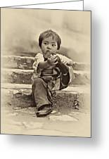 Sticky Boot Antique Sepia Greeting Card